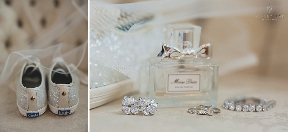 Sparkly bridal details shot by orlando wedding photographer