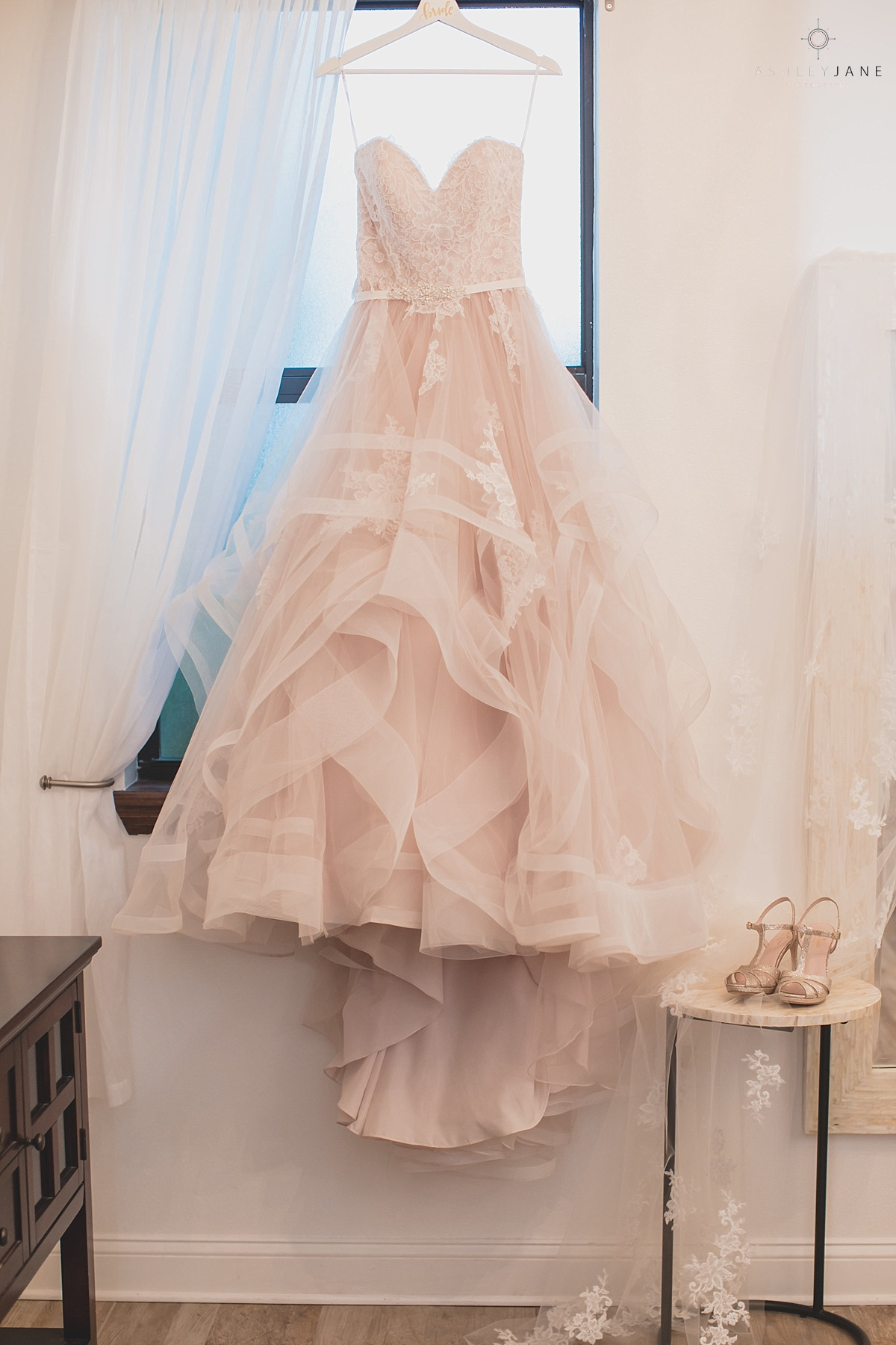 Sweetheart lace a line bridal gown for Romantic Blush Royal Crest Room Wedding
