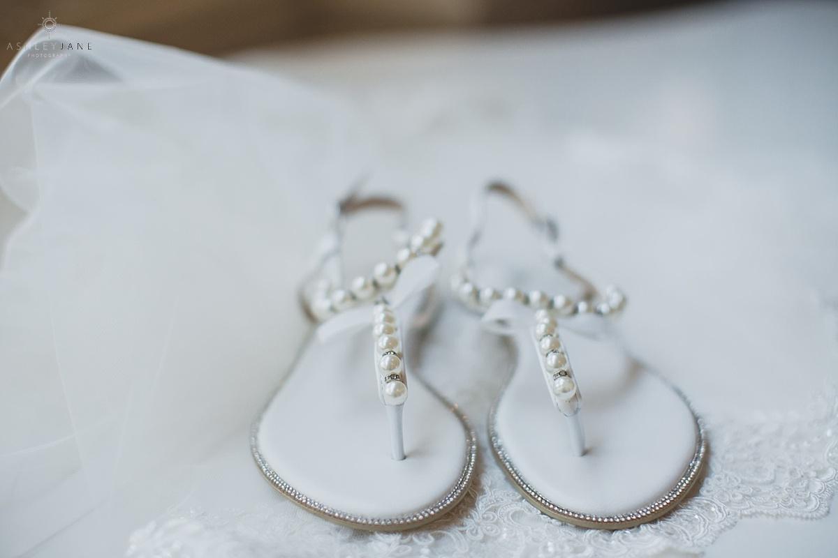 Elegant Blush Daytona Beach Wedding shot by orlando wedding photographer