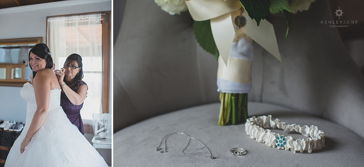 Ivory bridal bouquet and accessories shot by orlando wedding photographer