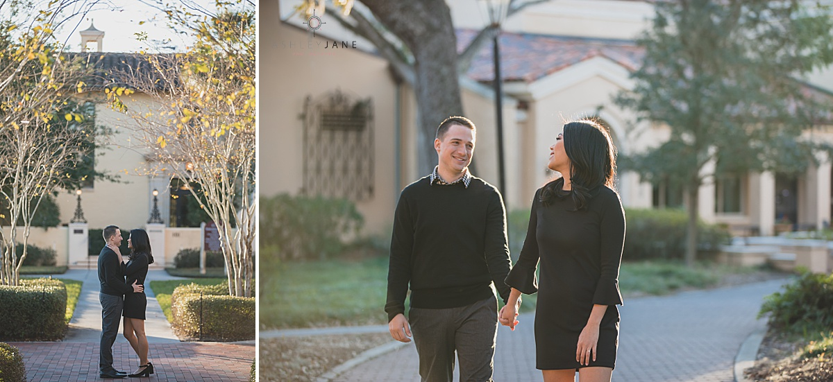 Rollins College one of the best engagement session spots in orlando shot by orlando wedding photographer