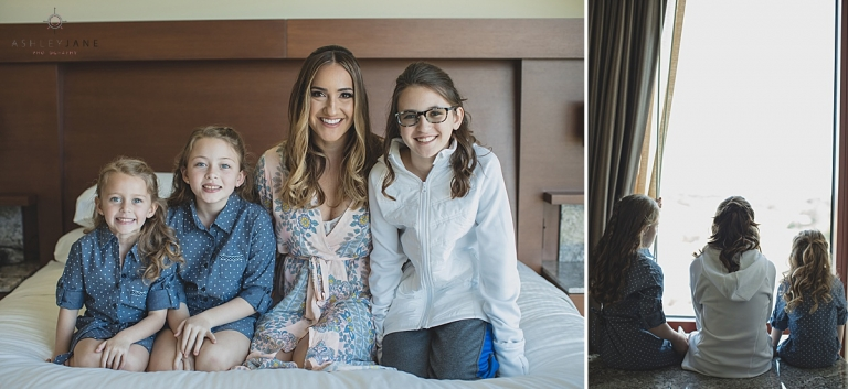 Bride and her flower girls getting ready shot by orlando wedding photographer