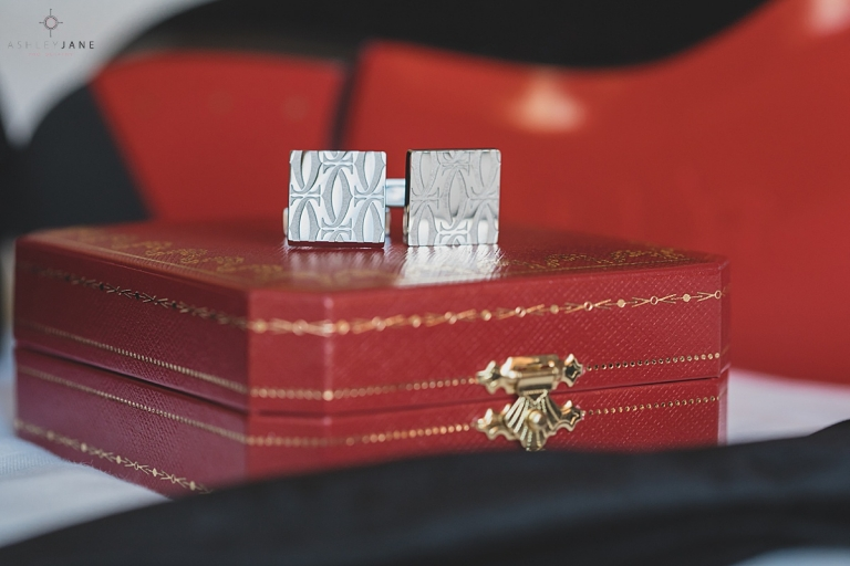 Groom cufflinks shot by orlando wedding photographer